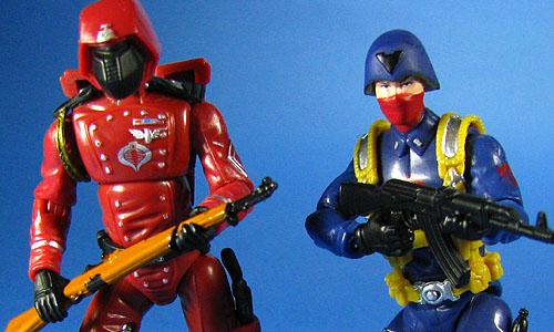 Crimson Guard /& Cobra Scarred Officer 2-Pack GI Joe 25th Anniversary